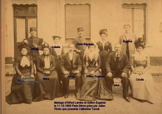 Mariage de Lemire Alfred en 1900 à Paris
